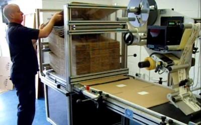 cardboard box labeling machine